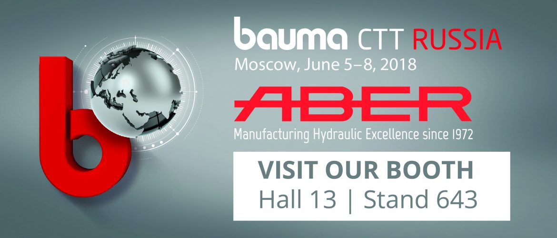 ABER will participate in bauma CTT RUSSIA 2018 - ABER